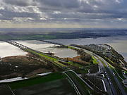 Nederland, Zuid-Holland, Dordrecht, 25-02-2020; Ingang tunnel HSL onder de Dordtsche Kil, gezien richting Hoeksche Waard. <br /> HST tunnel Dordtse Kil, seen in the direction of Hoeksche Waard.<br /> luchtfoto (toeslag op standard tarieven);<br /> aerial photo (additional fee required)<br /> copyright © 2020 foto/photo Siebe Swart