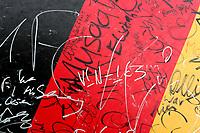 GEPA-1906085510 - BASEL,SCHWEIZ,19.JUN.08 - FUSSBALL - UEFA Europameisterschaft, EURO 2008, Portugal vs Deutschland, POR vs GER, Viertelfinale. Bild zeigt eine Fahne von Deutschland.<br />Foto: GEPA pictures/ Andreas Pranter