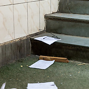 """Scenes from inside the Jamia University campus  including library and meeting rooms which were ransacked and propoerty destroyed during the police assault. CCTV cameras were broken and the recorders snatched by the police according to the guards at the gate. """" Even we were assaulted, im even an ex army man  but that didnt detter them""""."""