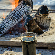 A Rich Stout Enjoyed Next To A Fire On A Cool Fall Afternoon At Hoplot Brewing In Suttons Bay Michigan