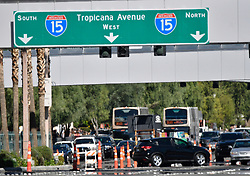 Oct 3,2017. Las Vegas NV.  Traffic jammed up Tuesday at the closed area of the Las Vegas strip after Sundays mass shooting.  The latest on victims as of Tuesday is still 59 dead, 527 injured last reported Monday night.  The shooting happen during day 3 of the Route 91 Harvest Festival.. Photo by Gene Blevins/ZumaPress. (Credit Image: © Gene Blevins via ZUMA Wire)