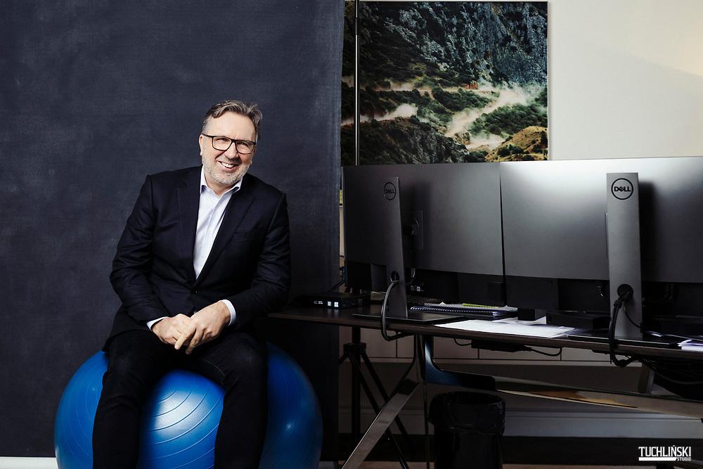 Wiedeń; Austria.12.02.2021r.<br /> Michał Sołowow-  businessman, przedsiębiorca pozuje do zdjęć w swoim biurze we Wiedniu.<br /> Fot. Adam Tuchlinski