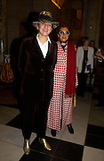 Selina Blow and Helga Perrera. Party to celebrate the publication of 'Put On Your Pearl Girls!' by Lulu Guinness at the V&A museum, London. 5 May 2005. ONE TIME USE ONLY - DO NOT ARCHIVE  © Copyright Photograph by Dafydd Jones 66 Stockwell Park Rd. London SW9 0DA Tel 020 7733 0108 www.dafjones.com