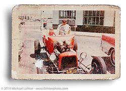Sherri in Arlen's T-Bucket Roadster, San Lorenzo, CA. ©1963 Ness Family Archive Photo