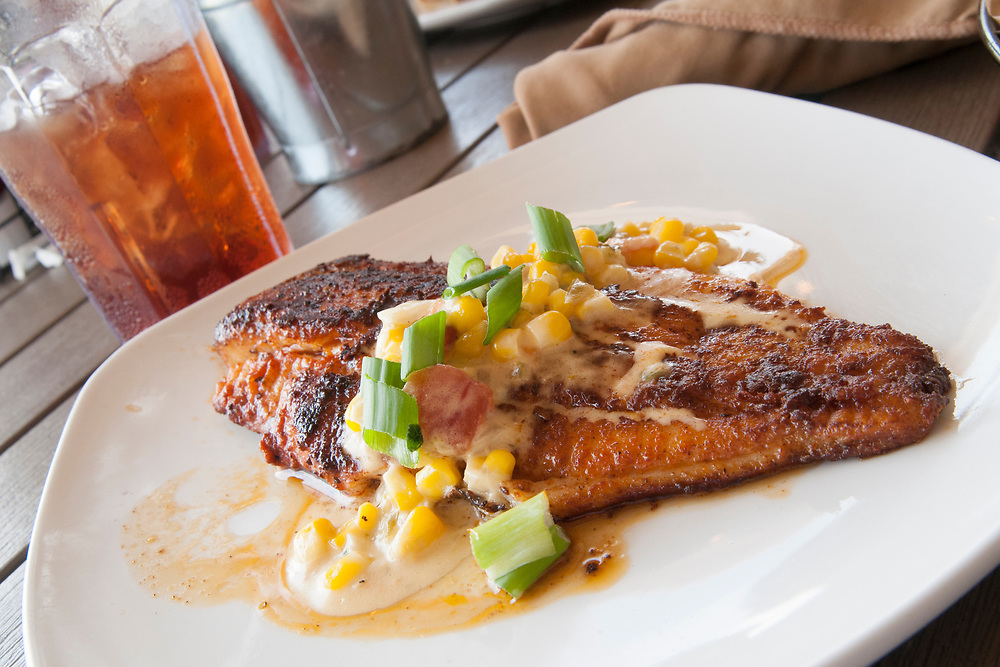 Seared catfish at 10 South Rooftop Bar & Grill in Vicksburg, Mississippi on Tuesday, May 22, 2018. Copyright 2018 Jason Barnette