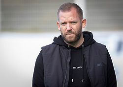 Cheftræner Martin Thomsen (Skive IK) under kampen i 1. Division mellem FC Helsingør og Skive IK den 18. oktober 2020 på Helsingør Stadion (Foto: Claus Birch).