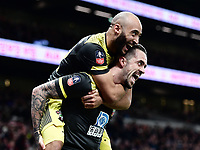 Football - 2019 / 2020 Emirates FA Cup - Fourth Round, Replay: Tottenham Hotspur vs. Southampton<br /> <br /> Southampton's Danny Ings celebrates scoring his side's second goal with Nathan Redmond, at The Tottenham Hotspur Stadium.<br /> <br /> COLORSPORT/ASHLEY WESTERN