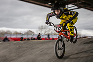 #212 (PETERSONE Vineta) LAT at the 2018 UCI BMX Superscross World Cup in Saint-Quentin-En-Yvelines, France.
