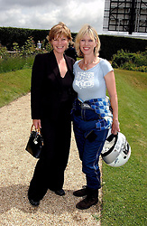 """Left to right, the COUNTESS OF MARCH and NETTE MASON at a luncheon hosted by Cartier at the 2004 Goodwood Festival of Speed on 27th June 2004.  Cartier sponsored the """"Style Et Luxe' for vintage cars on the final day of this annual event at Goodwood House, West Sussex."""