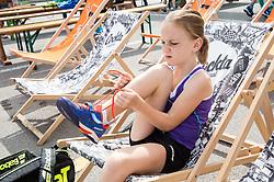 "Fan tennis event for kids named ""Play tennis"" by Tenis Slovenija, on May 26, 2018 in BTC - Millenium centre Ljubljana, Slovenia. Photo by Vid Ponikvar / Sportida"
