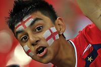 Photo: Tony Oudot/Richard Lane Photography.  England v Czech Republic. International match. 20/08/2008. <br /> A young England fan .