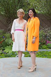 © Licensed to London News Pictures. 20/05/2013. London, England. Actress Emilia Fox with presenter Kirsty Allsop. Celebrities at Press Day Monday of the RHS Chelsea Flower Show. Photo credit: Bettina Strenske/LNP