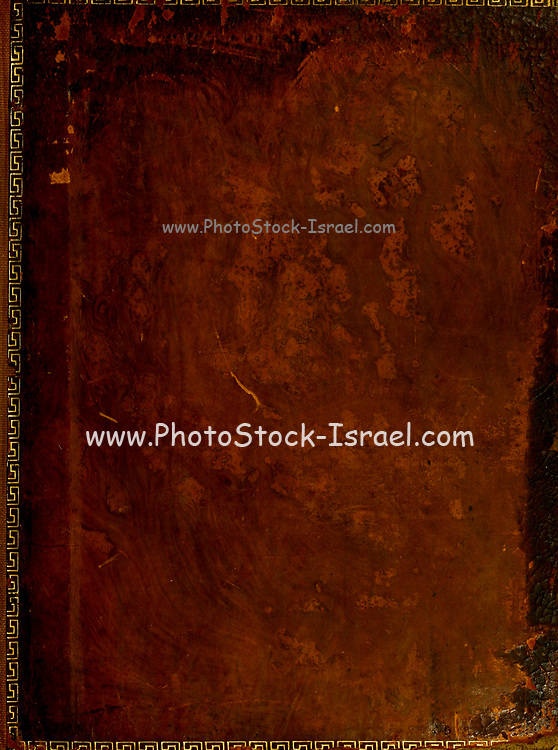 ancient leather book binding close up printed 1796