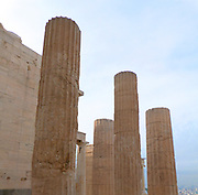 The monumental gateway to the Acropolis, the Propylaea was built under the general direction of the Athenian leader Pericles, but Phidias was given the responsibility for planning the rebuilding the Acropolis as a whole at the conclusion of the Persian Wars. According to Plutarch, the Propylaea was designed by the architect Mnesicles. Construction began in 437 BCE and was terminated in 432, when the building was still unfinished.