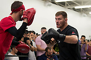 DALLAS, TX - MAY 11:  Stipe Miocic holds an open workout for the fans and media at Mohler MMA - Brazilian Jiu-Jitsu & Boxing on May 11, 2017 in Dallas, Texas. (Photo by Cooper Neill/Zuffa LLC/Zuffa LLC via Getty Images) *** Local Caption *** Stipe Miocic