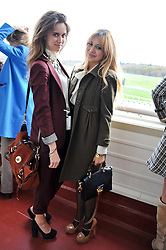 Left to right, JADE WILLIAMS and ZARA MARTIN at the Hennessy Gold Cup at Newbury Racecourse, Berkshire on 26th November 2011.
