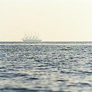 Large sail ship, Aeolian Islands, Italy