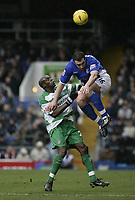 David Unsworth and Georges Santos.<br /> Ipswich Town v Queens Park Rangers. 26/01/05.<br /> Picture by Barry Bland.