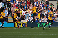 Bristol Rovers defender Tony Craig (5) celebrating after scoring goal  during the EFL Sky Bet League 1 match between AFC Wimbledon and Bristol Rovers at the Cherry Red Records Stadium, Kingston, England on 21 September 2019.