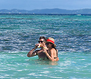 Dave Annable and Odette Yustman..Dave Annable and Odette Yustman drinking beer while swimming..Celebrities on the Beach while attending the Labor Day weekend in Puerto Rico for Hollywood Domino Celebrity Golf Tournament..Palomino Island, Puerto Rico, USA..Saturday, September 03, 2011..Photo By CelebrityVibe.com..To license this image please call (323) 325-4035; or .Email: CelebrityVibe@gmail.com ; .website: www.CelebrityVibe.com.**EXCLUSIVE**