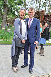 HUGH DENNIS and his wife KATE ABBOT-ANDERSON at the 2012 RHS Chelsea Flower Show held at Royal Hospital Chelsea, London on 21st May 2012.