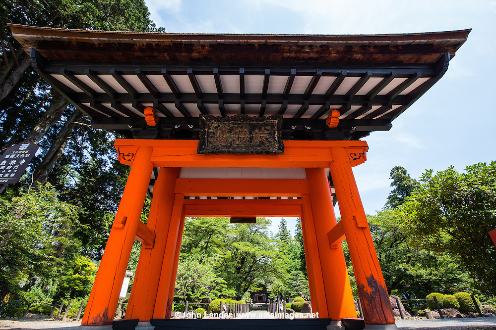 Erin-ji Temple Belfry - Erin-ji is a Zen temple set in the mountains of Yamanashi Prefecture and was built in 1330. Zen priest and garden designer Muso Soseki was asked to establish and design the temple. It is now a temple of the Myoshin-ji branch of Rinzai Zen Buddhism.  The temple's garden is best viewed from either temple's tatami rooms or connecting hallways.