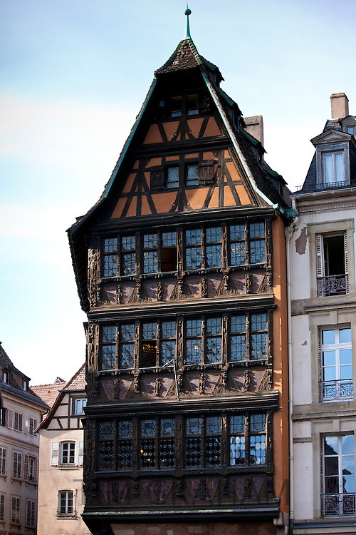Kammerzell House, 15th & 16th Century medieval building in Cathedral Square at Strasbourg, Alsace, France
