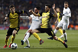 December 6, 2017 - Madrid, Spain - Isco of Real Madrid is challenged by Sahin of Borussia Dortmund during the UEFA Champions League group H match between Real Madrid and Borussia Dortmund at Santiago Bernabéu. (Credit Image: © Manu_reino/SOPA via ZUMA Wire)
