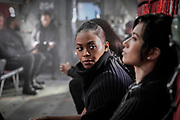 """Black Lightning -- """"The Book of Markovia: Chapter Four"""" -- Image Number: BLK313B_0060b.jpg -- Pictured (L-R): Nafessa Williams as Anissa and Chantal Thuy as Grace Choi -- Photo: Jace Downs/The CW -- © 2020 The CW Network, LLC. All rights reserved."""