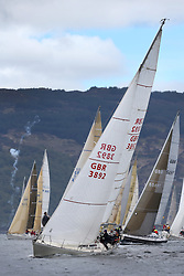 The Clyde Cruising Club's Scottish Series held on Loch Fyne by Tarbert. .Day 3 racing initially postponed awaiting  a light southerly...CYCA Class Start with GBR3892, Significant, Ian MacDonald , CCC / RGYC , Sigma 36