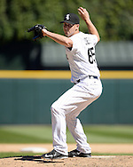 CHICAGO - JULY 09:  Nate Jones #65 of the Chicago White Sox pitches against the Atlanta Braves on July 9, 2016 at U.S. Cellular Field in Chicago, Illinois.  The White Sox defeated the Braves 5-4.  (Photo by Ron Vesely) Subject:    Nate Jones