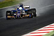 February 26, 2017: Circuit de Catalunya.  Antonio Giovinazzi, Sauber F1 development driver during the Pirelli wet weather tire test.