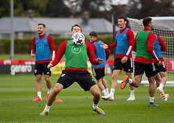 CARDIFF, WALES - Wednesday, September 2, 2020: Wales' Tom Lawrence during a training session at the Vale Resort ahead of the UEFA Nations League Group Stage League B Group 4 match between Finland and Wales. (Pic by David Rawcliffe/Propaganda)
