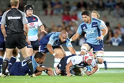 Kane Douglas. Investec Super Rugby - Blues v Waratahs, Eden Park, Auckland, New Zealand. Saturday 16 April 2011. Photo: Clay Cross / photosport.co.nz