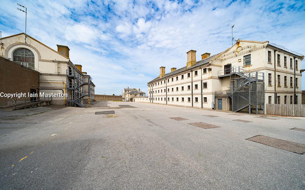 Exterior view of former prisoner hall at Peterhead Prison Museum in Peterhead, Aberdeenshire, Scotland, UK