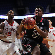 Eric Cobb, South Carolina, looks to shoots during the St. John's vs South Carolina Men's College Basketball game in the Hall of Fame Shootout Tournament at Mohegan Sun Arena, Uncasville, Connecticut, USA. 22nd December 2015. Photo Tim Clayton