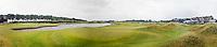 SPIJK - Panorama. Hole 18 van The Dutch .   Golfbaan THE DUTCH, waar het KLM Open in september 2016 zal worden gehouden. COPYRIGHT KOEN SUYK