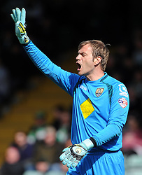 Roy Carroll of Notts County - Photo mandatory by-line: Harry Trump/JMP - Mobile: 07966 386802 - 11/04/15 - SPORT - FOOTBALL - Sky Bet League One - Yeovil Town v Notts County - Huish Park, Yeovil, England.