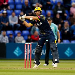 Glamorgan's David Lloyd in action today <br /> <br /> Photographer Simon King/Replay Images<br /> <br /> Vitality Blast T20 - Round 14 - Glamorgan v Surrey - Friday 17th August 2018 - Sophia Gardens - Cardiff<br /> <br /> World Copyright © Replay Images . All rights reserved. info@replayimages.co.uk - http://replayimages.co.uk
