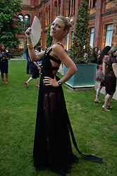 Sophie Moss at the V&A Summer Party 2017 held at the Victoria & Albert Museum, London England. 21 June 2017.<br /> Photo by Dominic O'Neill/SilverHub 0203 174 1069 sales@silverhubmedia.com