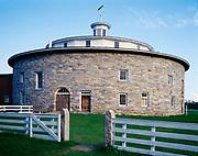 Round Stone Barn built in 1826, Hancock Shaker Village west of Pittsfield, Massachusetts.