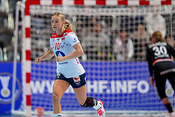 06-12-2019 JAP: Norway - Netherlands, Kumamoto<br /> Last match groep A at 24th IHF Women's Handball World Championship. / The Dutch handball players won in an exciting game of fear gegner Norway and wrote in the last group match at the World Handball  World Championship history (30-28). / Stine Bredal Oftedal #10 of Norway
