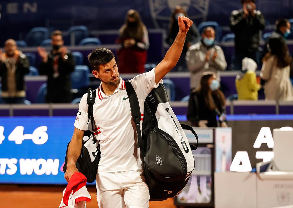 Tennis-ATP Serbia Open Belgrade 2021-Semi Final<br /> Novak Djokovic v Aslan Karatsev (RUS)<br /> Beograd, 24.04.2021.<br /> foto: Srdjan StevanovicStarsportphoto ©