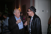 Francis Wyndham and Nicky Haslam. Book launch of Take A Girl Like Me - Life With George by Diana Melly. The Polish Club. Exhibition Rd. London. 21 July 2005. ONE TIME USE ONLY - DO NOT ARCHIVE  © Copyright Photograph by Dafydd Jones 66 Stockwell Park Rd. London SW9 0DA Tel 020 7733 0108 www.dafjones.com