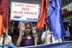 September 10, 2017 - Kolkata, West Bengal, India - School student participate in an awareness campaign organized by Medical Bank a social organization on suicidal video game ''Blue Whale'' on the occasion of World Suicide Prevention Day on September 10, 2017 in Kolkata. (Credit Image: © Saikat Paul/Pacific Press via ZUMA Wire)