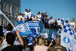 Brighton & Hove Albion players celebrate on top of the bus - Mandatory by-line: Jason Brown/JMP - 14/05/17 - FOOTBALL - Brighton and Hove Albion, Sky Bet Championship 2017 - Brighton and Hove Albion Promotion Parade