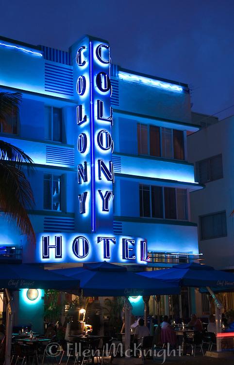 Colony Hotel in South Beach, Miami