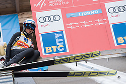 February 8, 2019 - Ljubno, Savinjska, Slovenia - Maren Lundby of Norway on first competition day of the FIS Ski Jumping World Cup Ladies Ljubno on February 8, 2019 in Ljubno, Slovenia. (Credit Image: © Rok Rakun/Pacific Press via ZUMA Wire)