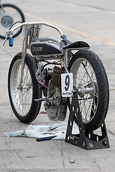 Dan Toce's Indian Power Plus board track style racer at the Sons of Speed Vintage Motorcycle Races at New Smyrina Speedway. New Smyrna Beach, USA. Saturday, March 9, 2019. Photography ©2019 Michael Lichter.