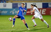 Fotball , 23. janaur 2018 , privatkamp kvinner , Norge - Island<br /> Norway - Iceland<br /> Guro Reiten  , Norge <br /> Andrea Ran Hauksdottir , Island